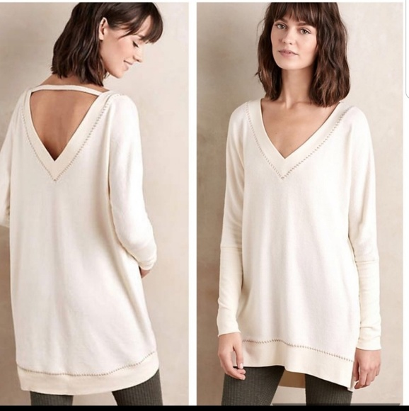 Anthropologie Sweaters - Anthro Saturday Sunday V-Neck Sweater